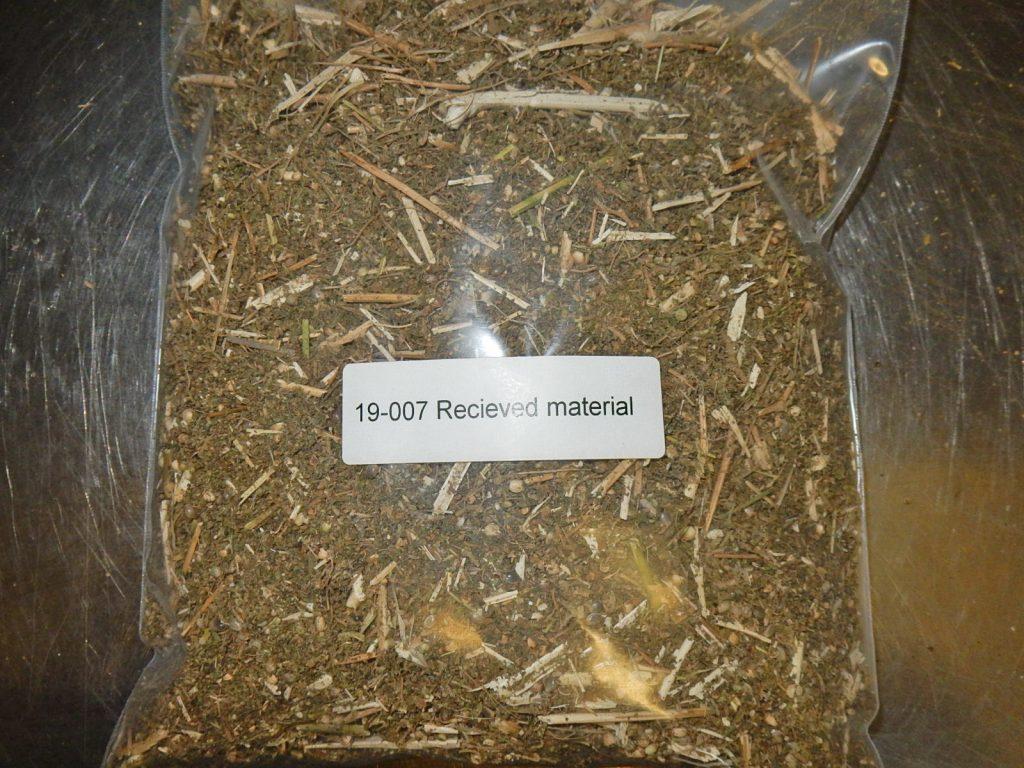 19-007 Recieved material